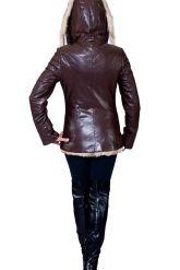 Удлиненная куртка коричневого цвета. Фото 2.