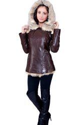Удлиненная куртка коричневого цвета. Фото 3.