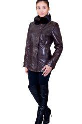 Элегантная куртка с воротником из меха норки. Фото 1.