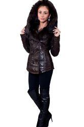 Укороченная женская куртка с мехом тоскана. Фото 3.