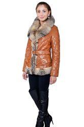 Рыжая куртка с мехом аргентинской лисы. Фото 1.