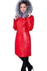 Оригинальное кожаное пальто с мехом чернобурки. Фото 7.