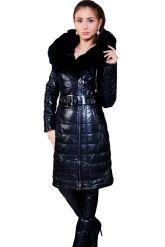 Стильное кожаное пальто с мехом рекс. Фото 1.