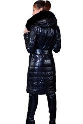 Стильное кожаное пальто с мехом рекс. Фото 2.