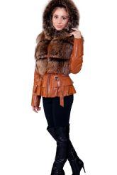 Куртка-жилетка с мехом песца в цвет соболя. Фото 8.