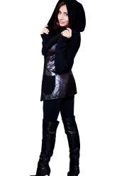 Куртка из кожи, комбинированной с трикотажем. Фото 8.