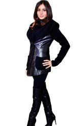 Куртка из кожи, комбинированной с трикотажем. Фото 9.
