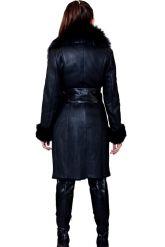 Женская дубленка черного цвета. Фото 2.