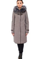 Классическое кожаное пальто с мехом чернобурки. Фото 1.