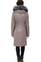 Классическое кожаное пальто с мехом чернобурки. Фото 3.
