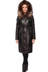 Оригинальное кожаное пальто. Фото 2.