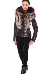 Молодежная куртка-жилетка шоколадного цвета. Фото 1.