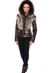 Молодежная куртка-жилетка шоколадного цвета. Фото 2.