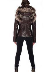 Молодежная куртка-жилетка шоколадного цвета. Фото 3.