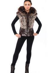 Молодежная куртка-жилетка шоколадного цвета. Фото 4.