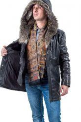 Мужская зимняя кожаная куртка. Фото 3.