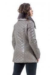 Стеганая кожаная куртка. Фото 3.