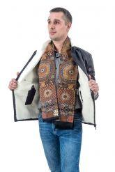 Зимняя мужская кожаная куртка. Фото 3.