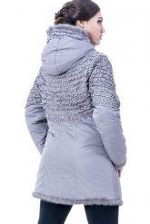 Удлиненная куртка жемчужного цвета. Фото 2.