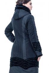Зимнее пальто с отделкой из вязанной норки. Фото 2.