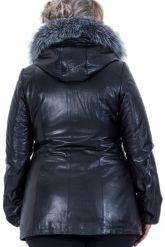 Кожаная куртка с мехом чернобурки. Фото 2.