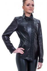 Куртка кожаная с отделкой косички. Фото 1.