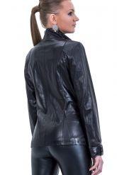 Куртка кожаная с отделкой косички. Фото 2.