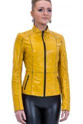 Утягивающая кожаная куртка со стрейч. Фото 1.