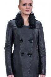 Стильная кожаная куртка. Фото 1.