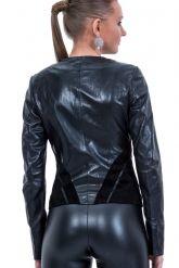 Комбинированная кожаная куртка. Фото 2.