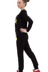Стильный спортивный костюм черного цвета. Фото 2.