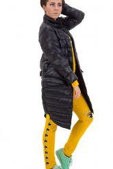 Модный облегченный пуховик черного цвета. Фото 1.