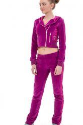 Модный молодежный спортивный костюм фиолетового цвета. Фото 1.