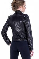 Черная кожаная куртка-косуха. Фото 2.