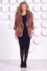 Оригинальный пиджак из вязаной лисы. Фото 1.