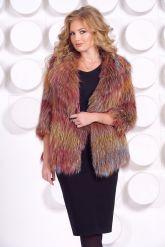 Оригинальный пиджак из вязаной лисы. Фото 2.