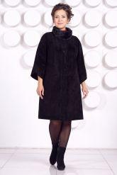 Замшевое пальто с рукавами 7/8. Фото 1.