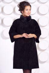 Замшевое пальто с рукавами 7/8. Фото 3.
