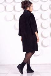 Замшевое пальто с рукавами 7/8. Фото 4.