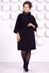 Замшевое пальто с рукавами 7/8. Фото 5.