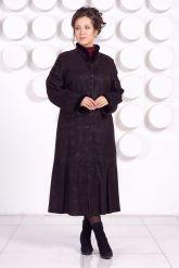 Длинное кожаное пальто RAFINNA. Фото 2.