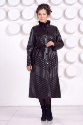Длинное кожаное пальто MARGARITA-2. Фото 1.