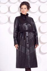 Длинное кожаное пальто MARGARITA-2. Фото 3.