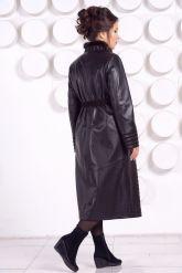 Длинное кожаное пальто MARGARITA-2. Фото 4.