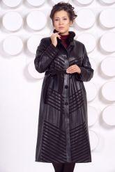 Длинное кожаное пальто MARGARITA-2. Фото 5.