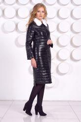 Длинное кожаное пальто. Фото 2.