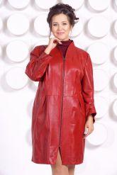Красивый кожаный плащ больших размеров BAYAN. Фото 3.