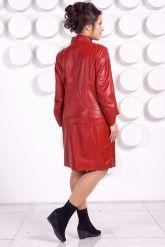 Красивый кожаный плащ больших размеров BAYAN. Фото 4.