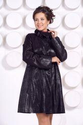 Кожаное пальто больших размеров MONIKA-VIZ. Фото 2.