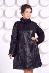 Кожаное пальто больших размеров MONIKA-VIZ. Фото 3.